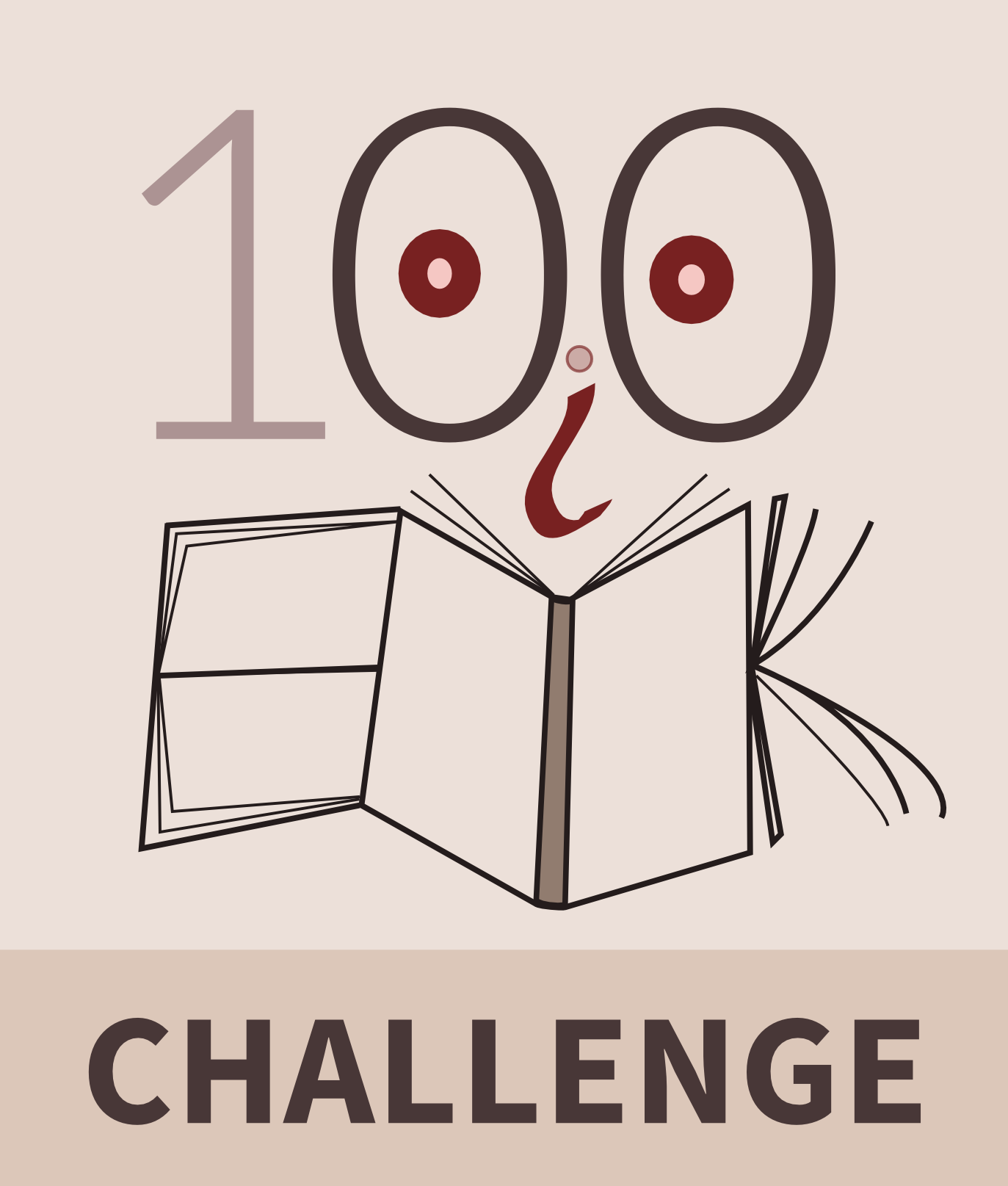 100 Book Challenge Cartoon