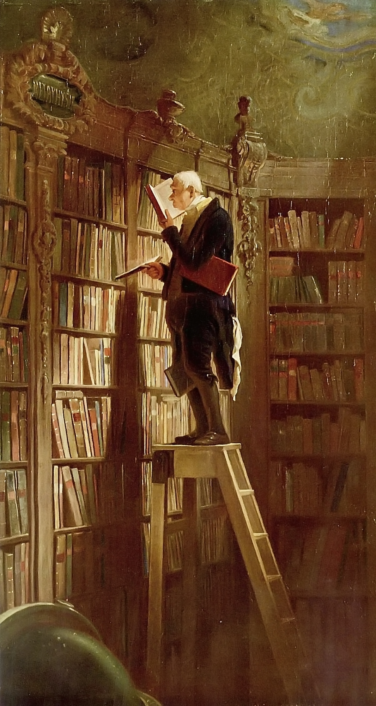 The Bookworm, 1850, by Carl Spitzweg.