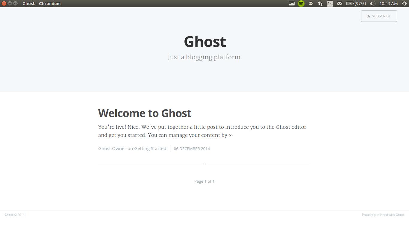 Default Ghost Screenshot